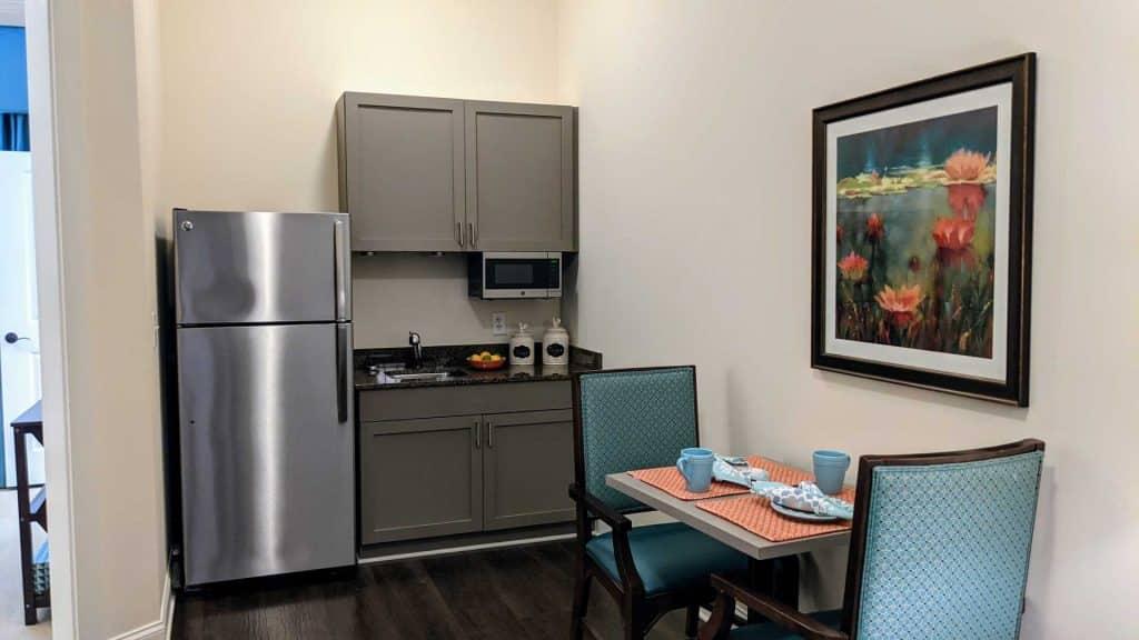 Model kitchen at Vitality Living Milton