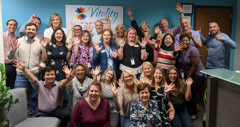 Vitality Living Support Office Happy